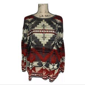 Ralph Lauren  Denim Supply Aztec Knit Tunic M ASOS